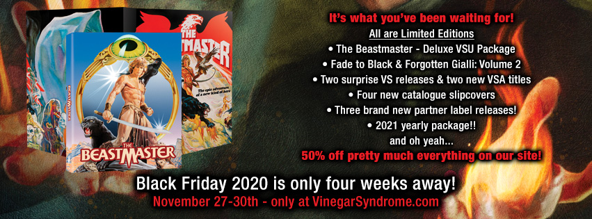 Black Friday 2020 at VinegarSyndrome.com
