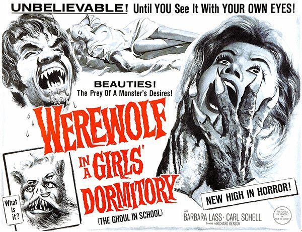 The 13th Wolfman – 31 Days of Horror Day 25 2020 – WEREWOLF IN A GIRLS' DORMITORY (1961)